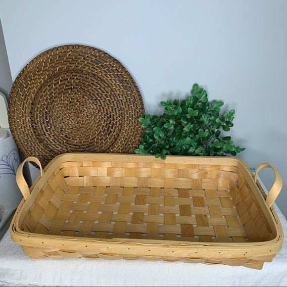 Woven Wicker Basket With Handles large size